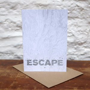 'Escape' Greetings Card