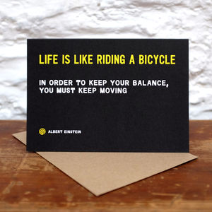 'Life Is' Greetings Card - good luck cards