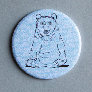 Mr Brown Bear Pocket Mirror