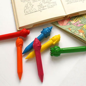 Set Of Six Fairy Tale Crayons - pens, pencils & cases
