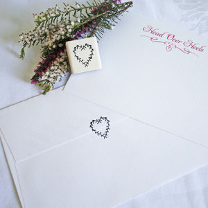 Love Heart Stamp - wedding stationery