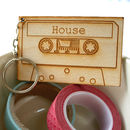 House And Garage Compact Cassette Keyring