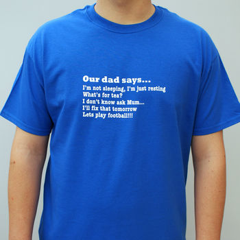 Personalised 'All The Things He Says' T Shirt