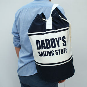 Personalised Canvas Duffle Bag - nautical necessities