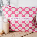 Personalised Daisy Washbag