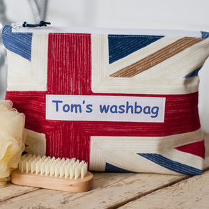 Personalised Child's Flag Washbag - make-up & wash bags