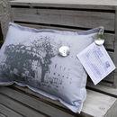 Vintage Style Paris Carousel Cushion