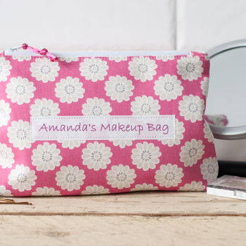 Personalised Daisy Cosmetic Bag