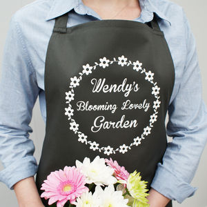 Personalised Flower Garden Apron - gifts for gardeners
