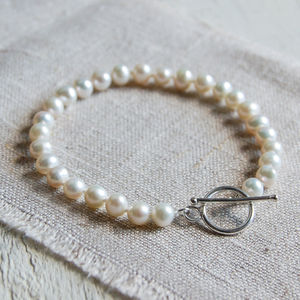 Pearl Bracelet With Sterling Silver Clasp - wedding jewellery