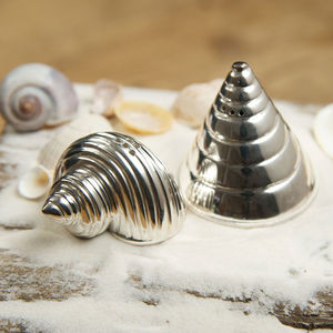 Conch And Cone Salt And Pepper Shakers