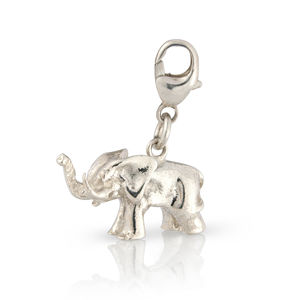 Sterling Silver Elephant Charm - women's jewellery