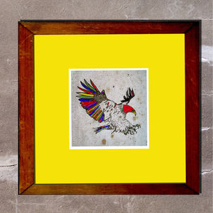 Aztec Eagle Print - animals & wildlife