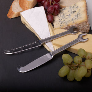 Spanner Hard And Soft Cheese Knives Gift Boxed - knives
