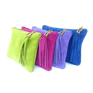 Mini Suede Clutch - womens