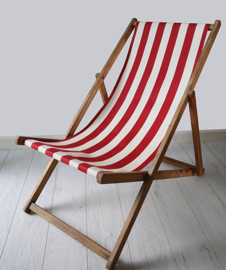 stripy vintage deck chair by deja ooh. Black Bedroom Furniture Sets. Home Design Ideas
