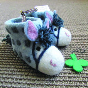 Children's Purdy The Pony Felt Animal Slippers