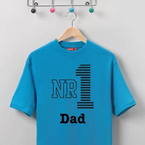 Men's Personalised 'Number 1' T Shirt