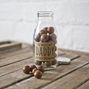 Personalised Vintage Favour Milk Bottle