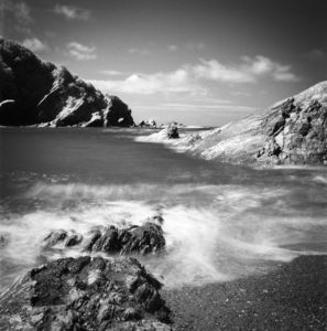 Rocks Ii, Combe Martin, Black And White Signed Print - posters & prints