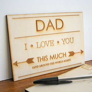 Wooden Postcard For Father's And Dad's - gifts under £15