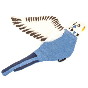 Bert The Budgie Felt Animal Rug - baby's room