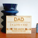 Wooden Postcard For Father's And Dad's