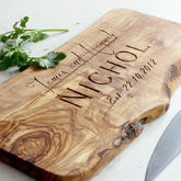 Personalised Wooden Chopping Or Cheese Board - weddings