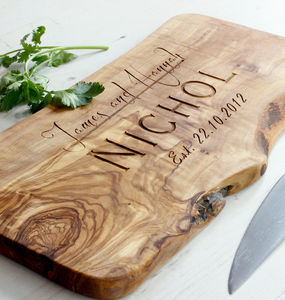Personalised Wooden Chopping Or Cheese Board - home wedding gifts