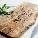Waney Edged Personalised Chopping Board