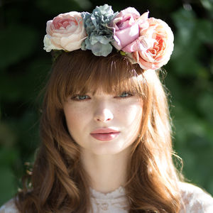 Pastel Flower Crown Headband - wedding fashion