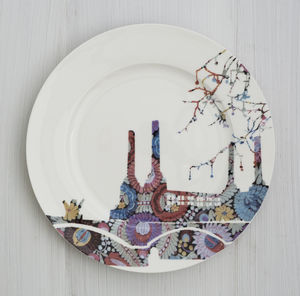Battersea Fabric Plate - the london collection