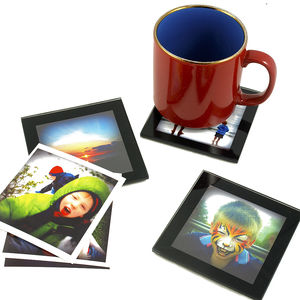 Diy Glass Coasters - picture frames
