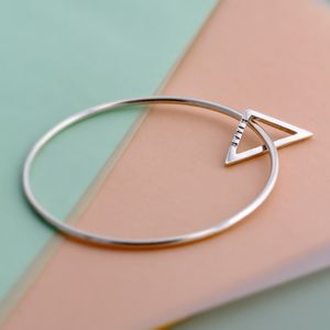Personalised Geometric Bangle - contemporary jewellery