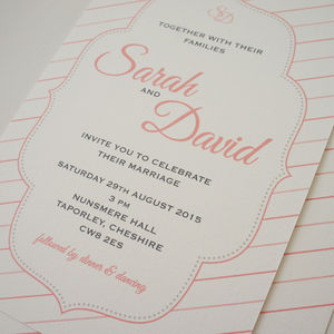 'Taylor' Wedding Stationery Collection - save the date cards