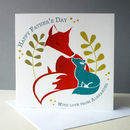 Personalised Father's Day Card With Fox