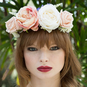 Rose Plaited Flower Crown Headband - wedding fashion