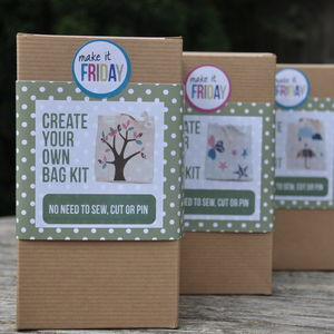 No Sew Bag Kit   Tree