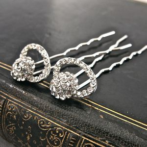 Set Of Diamante Hair Pins