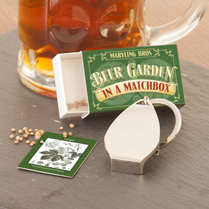 Grow Your Own Beer Garden In A Matchbox - gifts for him sale