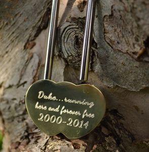 Personalised Loved Pet Memory Lock