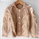 HandKnitted Baby Cardigan 100% Merino