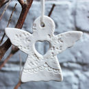 Porcelain Angel Christmas Decoration