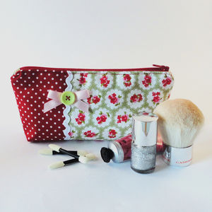 Flower Print Makeup Bag - health & beauty sale