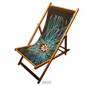 Deckchair Ultraviolet Jellyfish By Jacqueline Hammond