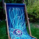 Ultraviolet Jellyfish Deckchair  by Jacqueline Hammond for Smart Deco Style
