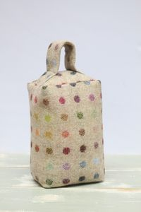 Wool Multi Spot Doorstop - home accessories