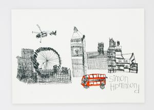 A3 London Cityscape Silkscreen Print