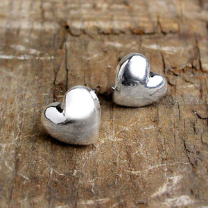 Anika Sterling Silver Heart Stud Earrings