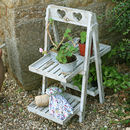 Four Tier Wooden Plant Pot Stand